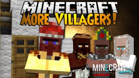 Minecraft — Diversity (More Villagers) для 1.7.10